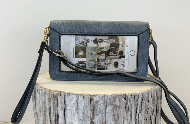 Nyla Phone Crossbody - Denim