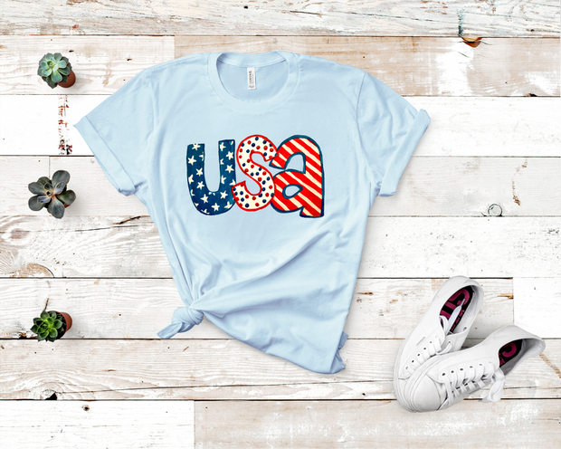 Painted USA Graphic Tee