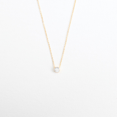 Michelle Mcdowell Gold Pave Necklace