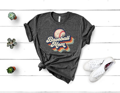 Retro Baseball Mom Graphic Tee
