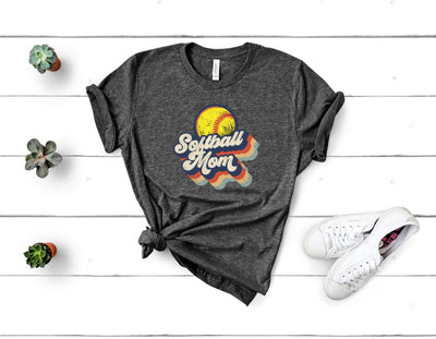Retro Softball Mom Graphic Tee
