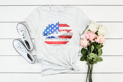 Stars & Stripes Lips Graphic Tee