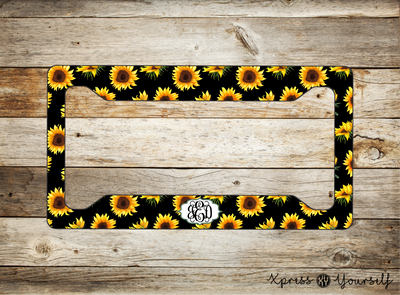 Sunflower License Plate Frame