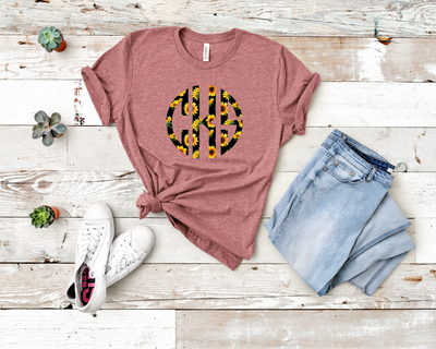 Sunflower Monogram Tee