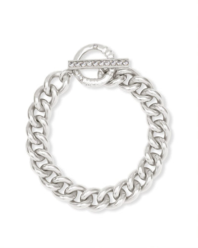 Kendra Scott Whitley Chain Bracelet In Silver