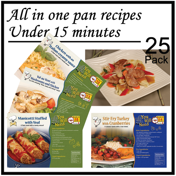 Recipe Pack - Meals Made In Under 15-Minutes