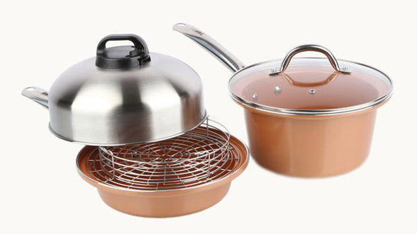 Fry Pan & Sauce Pan 6 Pc. Set