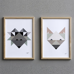 Poster Fox Paintings and prints (Silke Bonde)