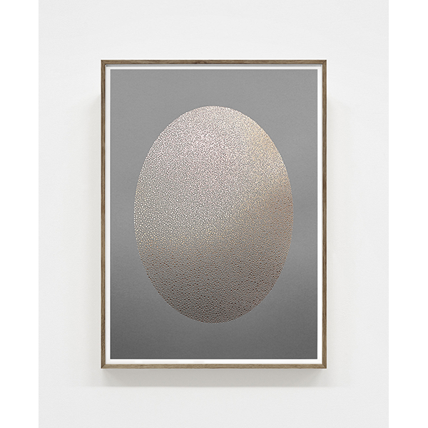 Eclipse Grey and Gold Art Print