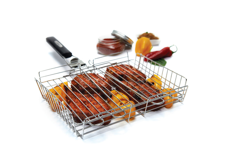 Delux Stainless Steel Grill Basket+Handle