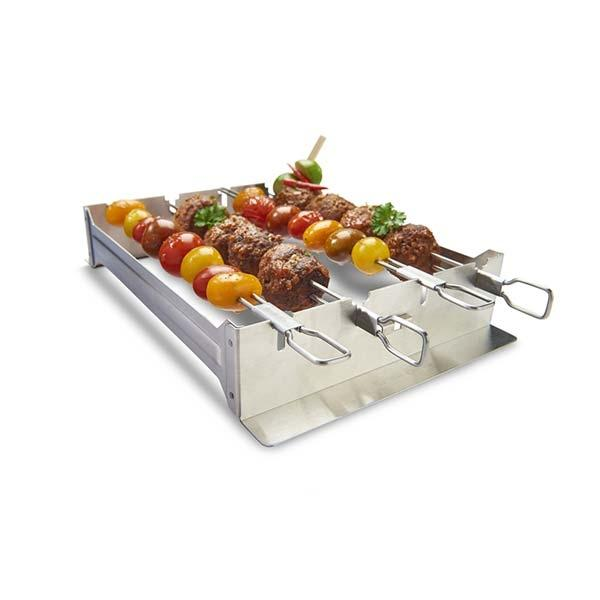 Broil King Narrow Kebab Rack (includes 4 Dual Prong Skewers)