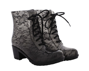 Daisy Boot - Black Lace