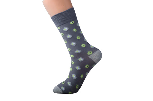 Argyle Green and Grey Socks
