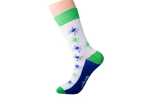 Blue Green Spider Socks
