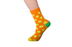 Spotted Orange and Yellow Socks