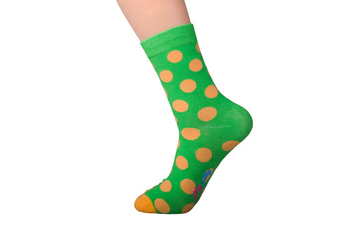 Spotted Green and Orange Socks