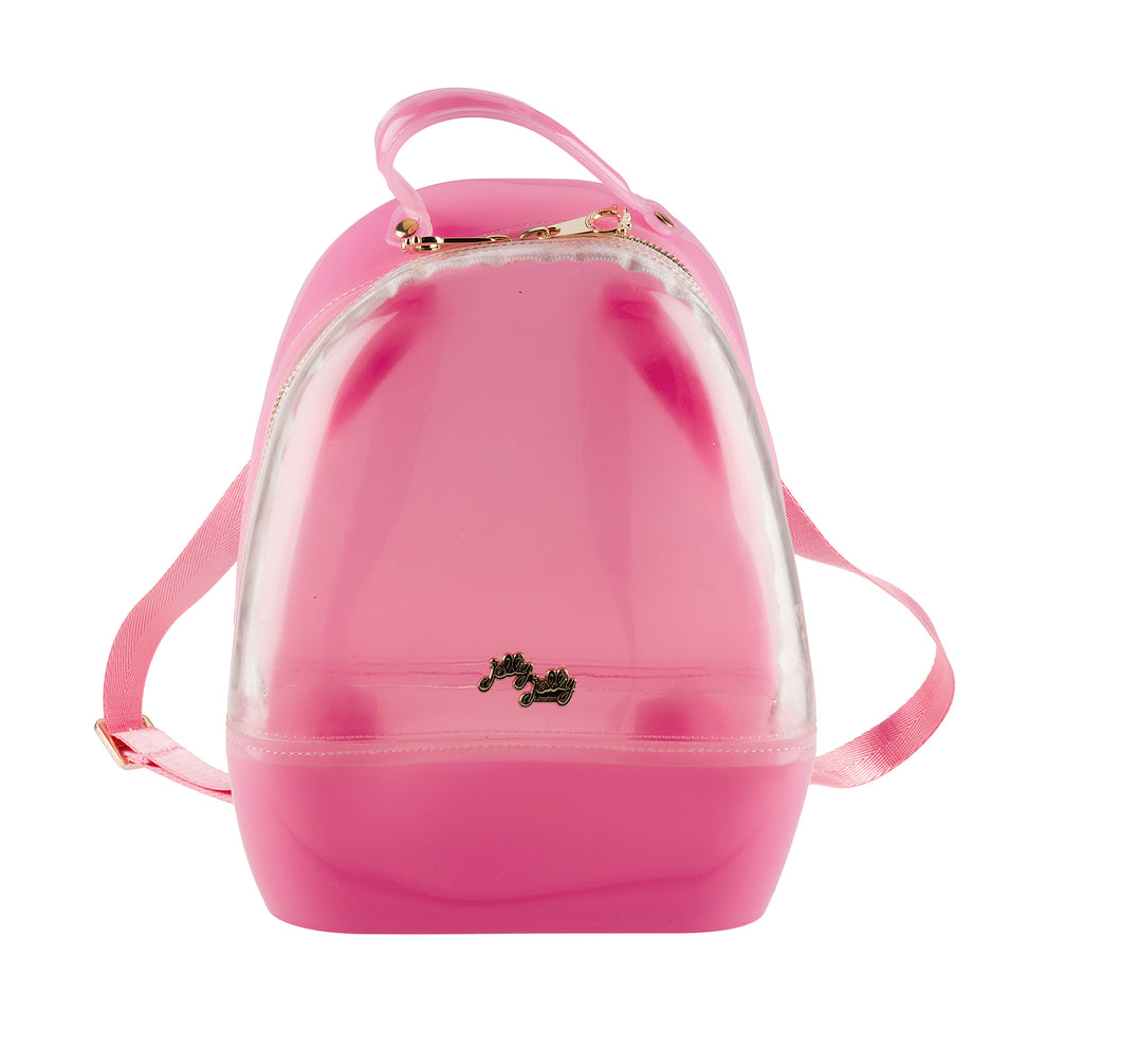 Annabelle Backpack - Clear & Pink