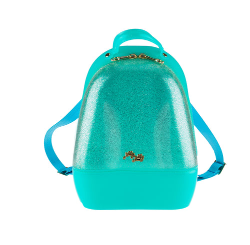 Annabelle Backpack -  Sparkled Silver & Mint