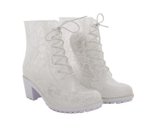 Daisy Boot - White Lace
