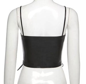 Rica Ruched Cropped Top