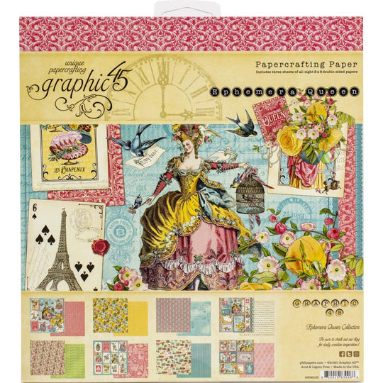 Graphic 45 Ephemera Queen Double-Sided Paper Pad 8