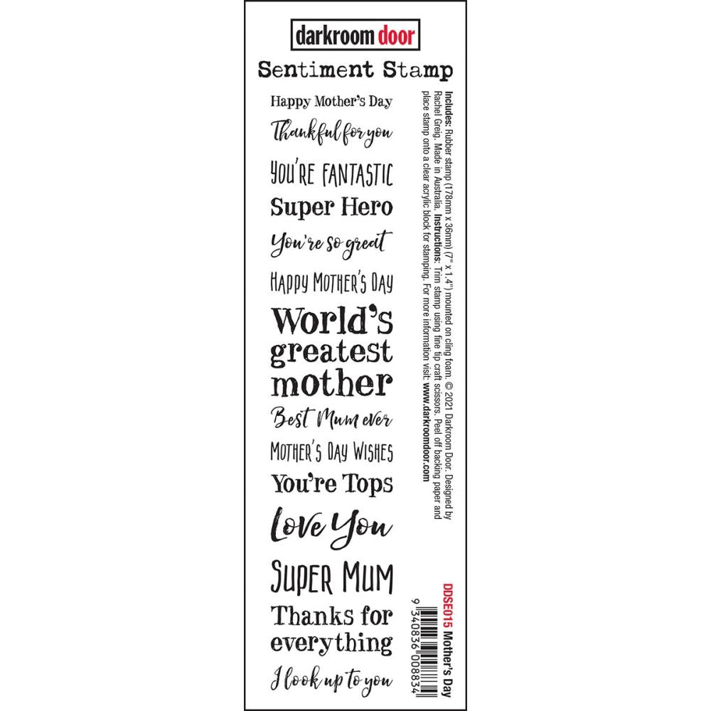 Darkroom Door Mother's Day Rubber Cling Stamp