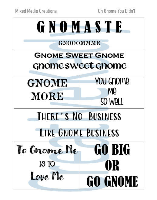 Oh Gnome You Didn't Sentiment Pack