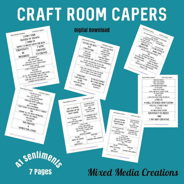 Craft Room Capers Sentiment Pack
