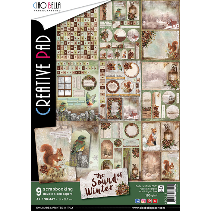 ciao bella papercrafting the sound of winter a4 creative pad