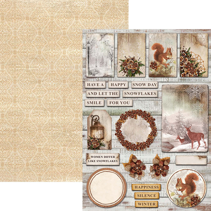 Ciao Bella The Sound of Winter Double Sided Creative Pad A4