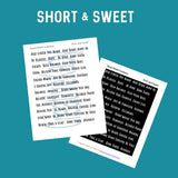 Short and Sweet Sentiment Pack