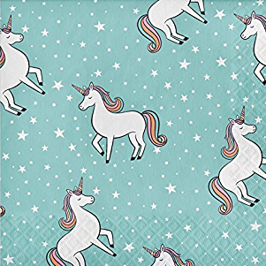 Rainbow Unicorn Napkins