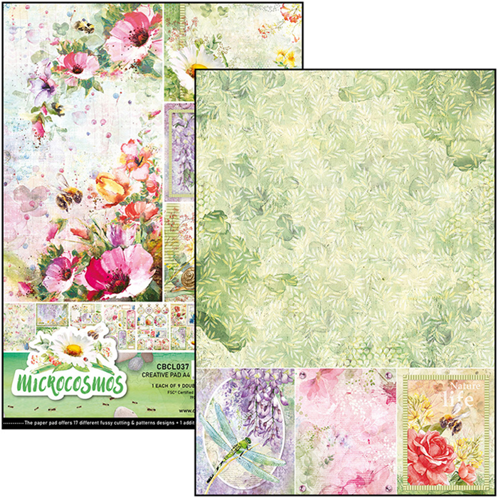 Ciao Bella Microcosmos Double Sided Creative Pad A4
