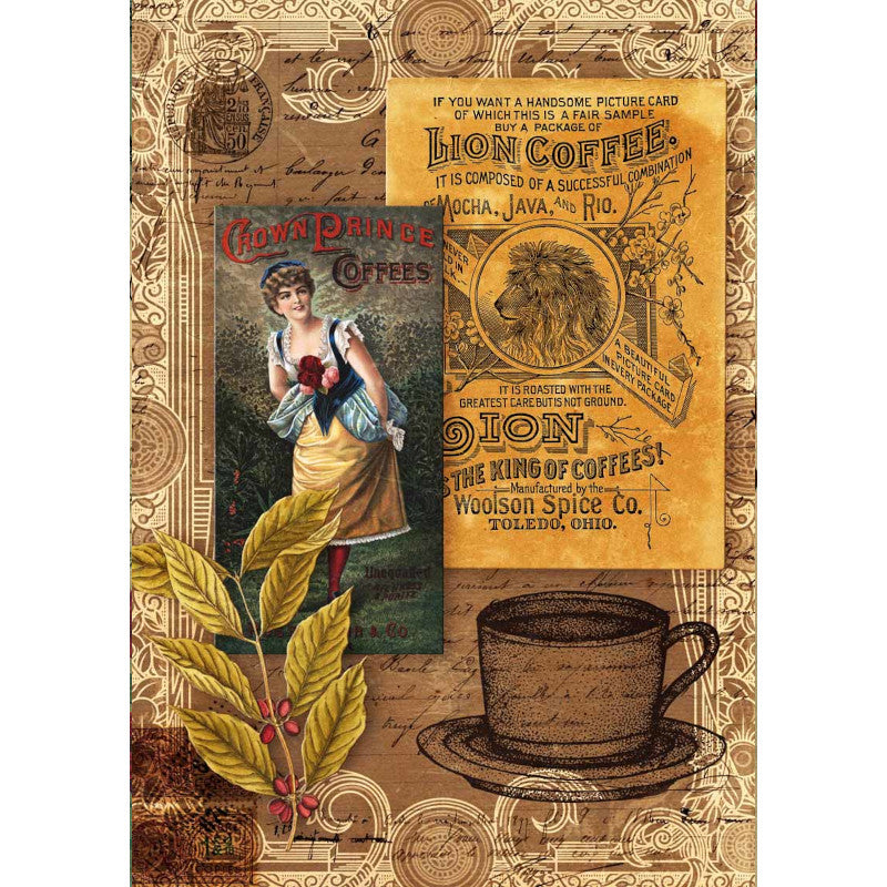 Decoupage Queen Morning Brew Coffee Rice Paper A4