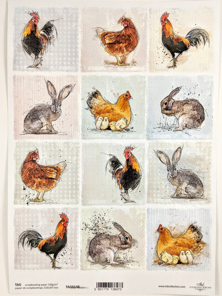 Tags Bunnies & Chickens 0148 - Ninnys Napkins
