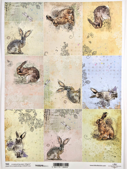 Tags Rabbits 0146 - Ninnys Napkins