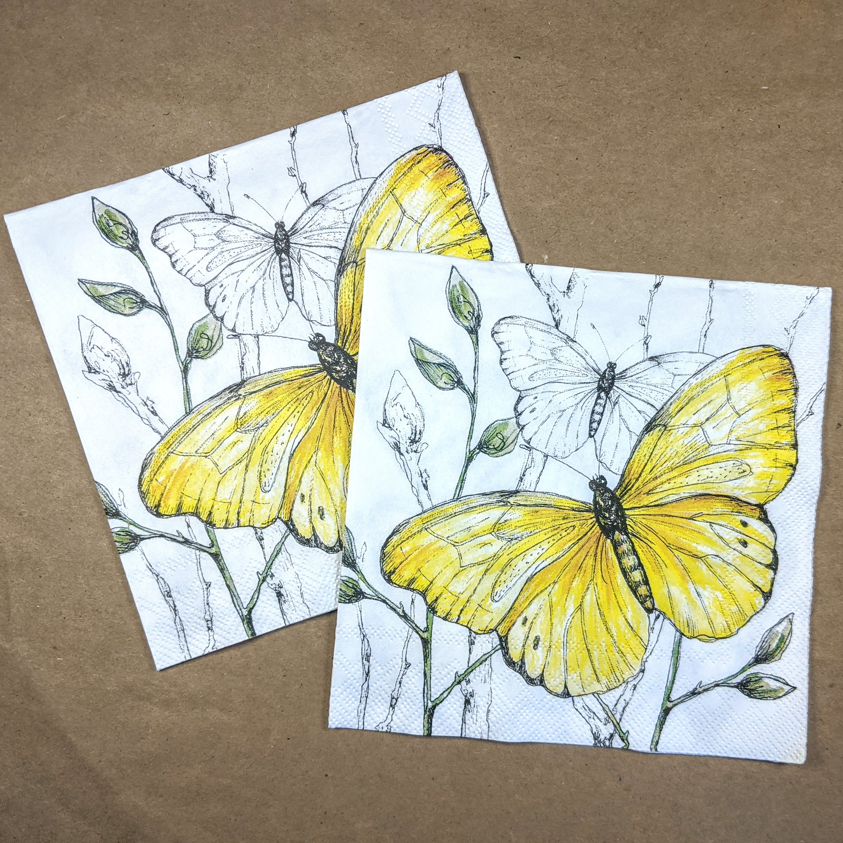 ninnys napkins for decoupage colorful butterflies