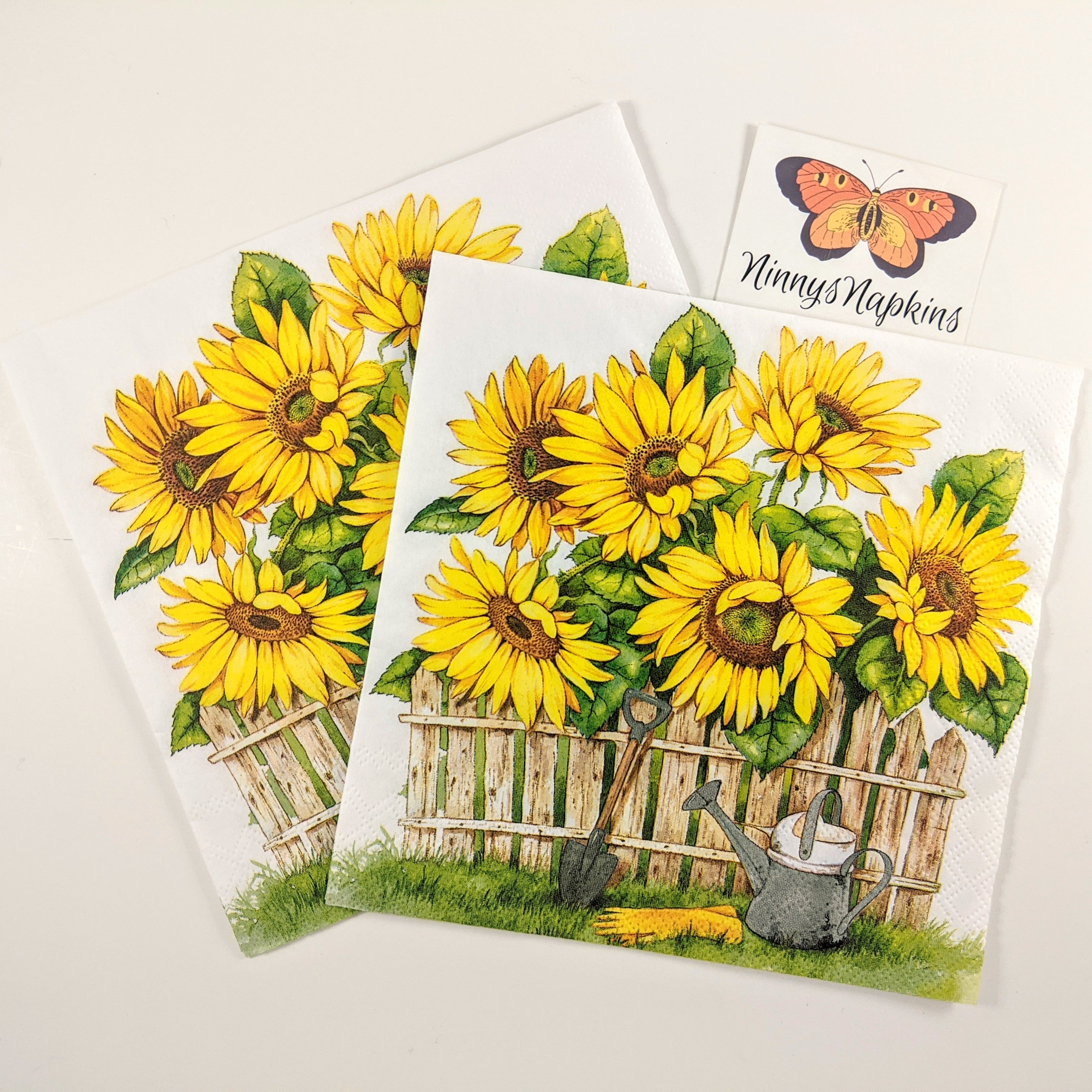 Garden of Sunflowers - Decoupage Napkins