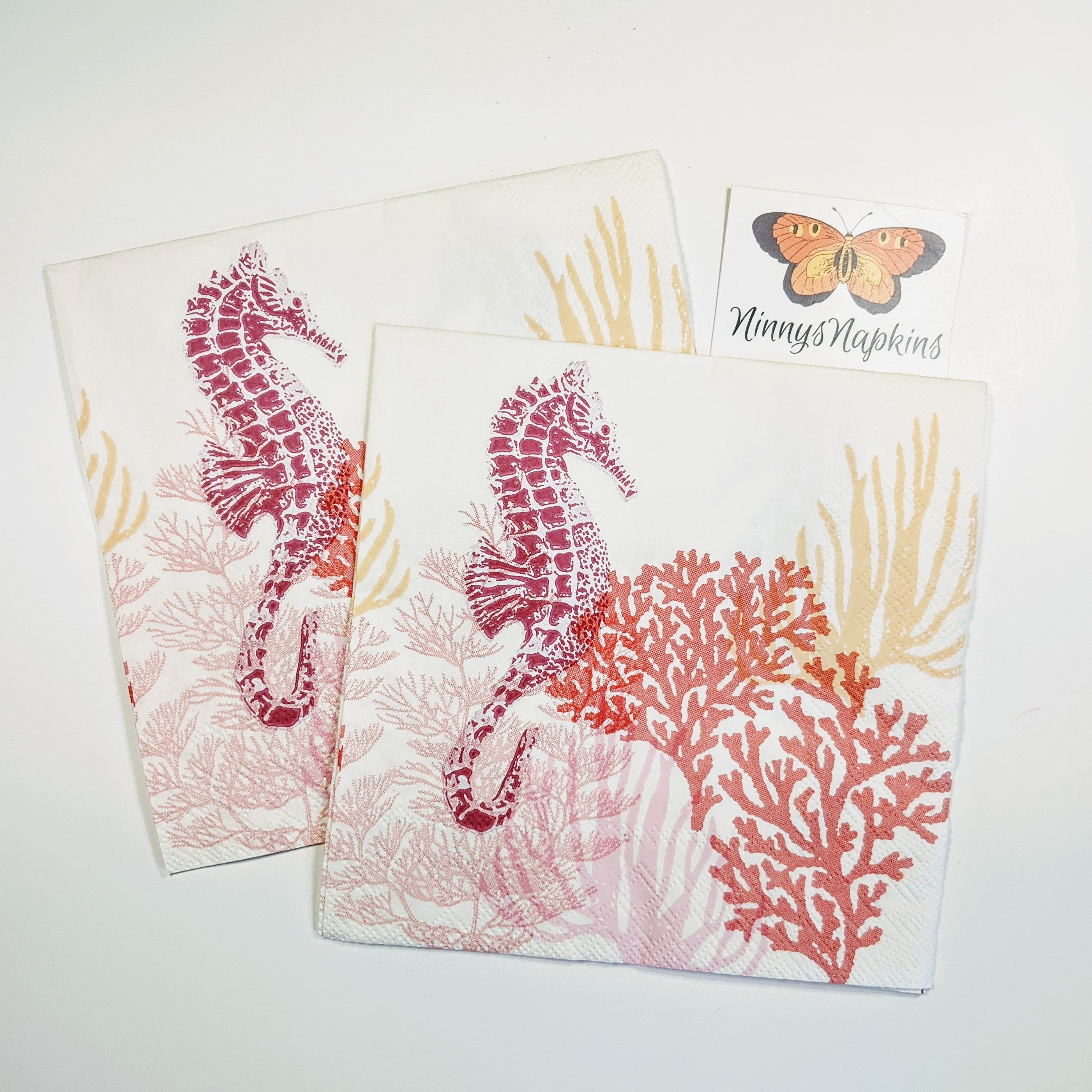 Coral Red - Decoupage Napkins