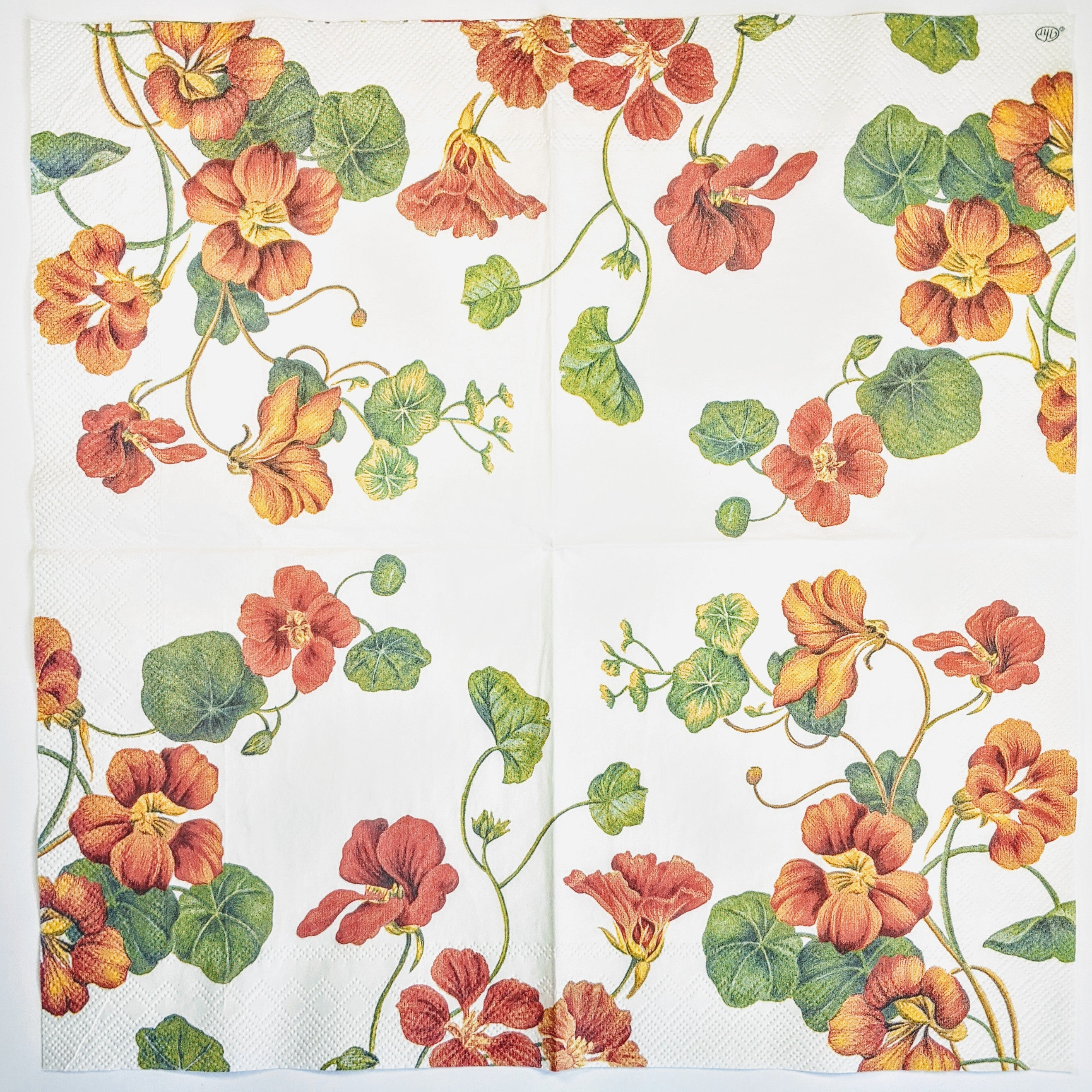 nasturtium flowers for decoupage