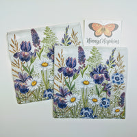 decoupage napkins mixed meadow flowers