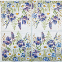 mixed meadow flowers ninnys decoupage napkins