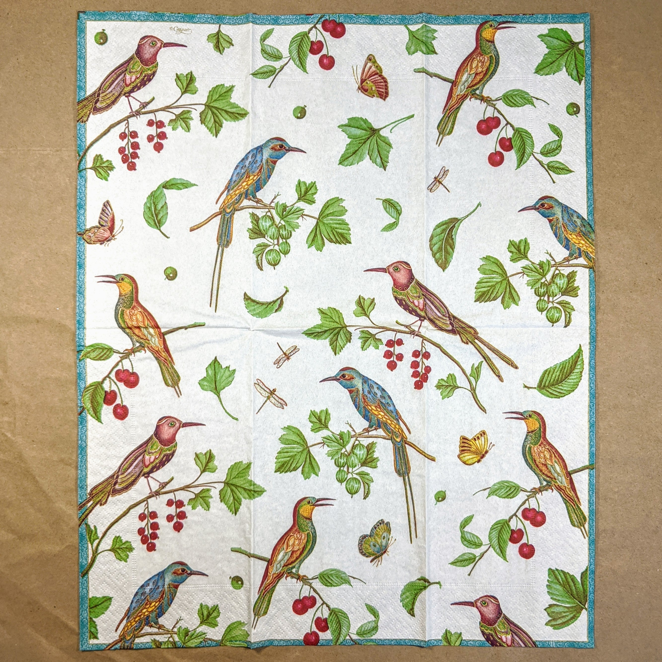 Jeweled Birds Napkins