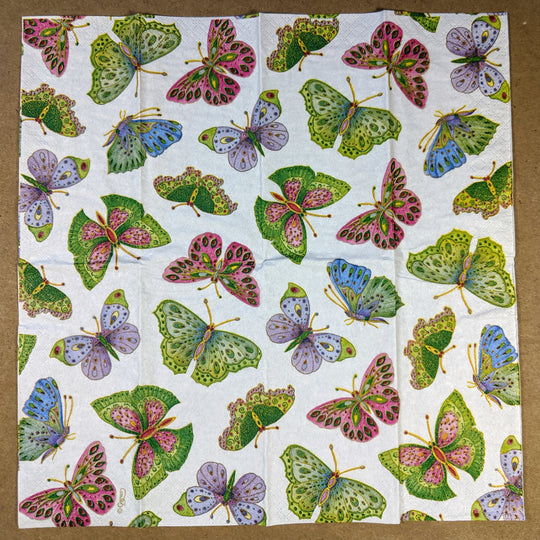 Jeweled Butterflies Pocket Tissues