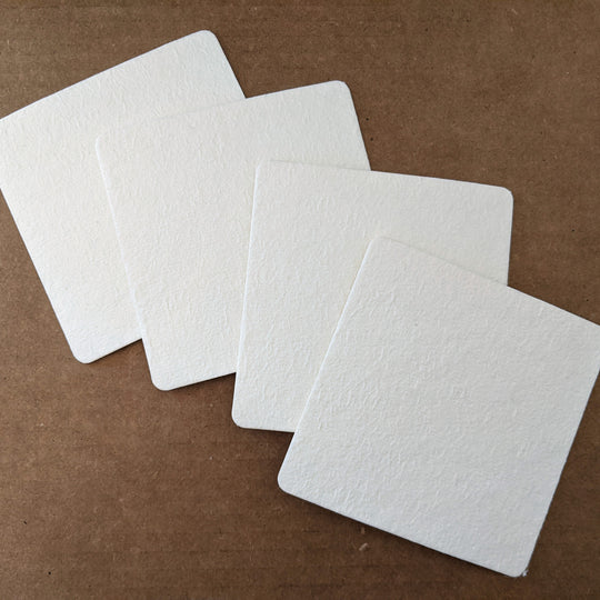 Disposable white coasters 4