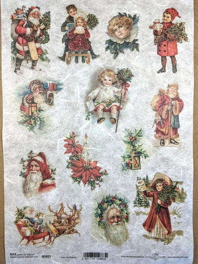 Vintage Christmas Rice Paper