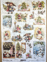 Kids at Christmas Rice Paper