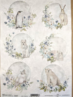 Snowy Animals Rice Paper