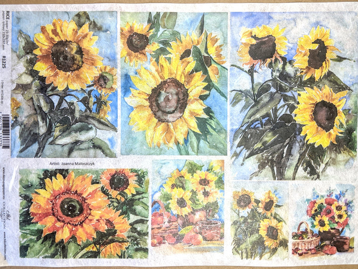 Sunflower Art Rice Paper