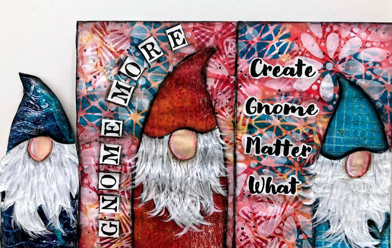 Gnome Book Digital Mixed Media Art Kit